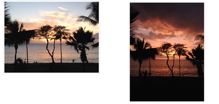 Which sunset is more beautiful?